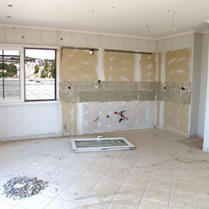 Unfinished home remodel project